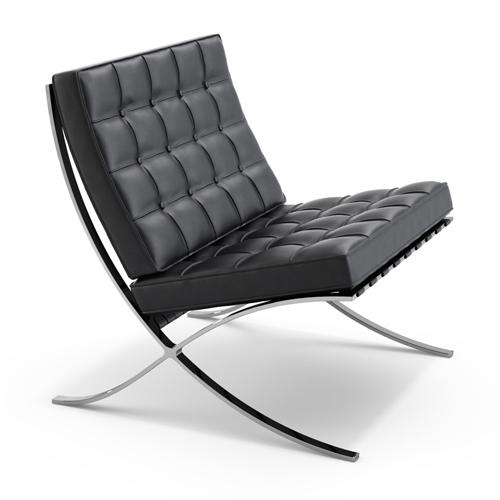 Rohe Barcelona Chair __black