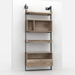 Asymmetry bookcase