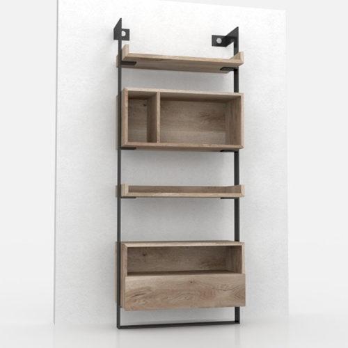 Asymmetry bookcase