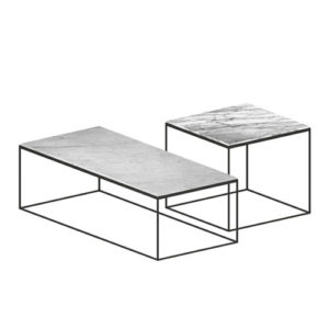 Slim marble low tables