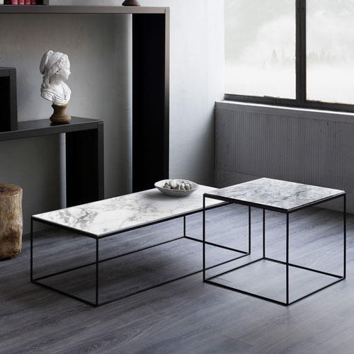 Slim marble low tables-f1